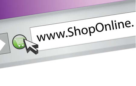 shop online browser concept illustration design page graphic Vector