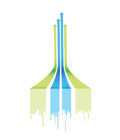 leader arrow lines illustration design over a white background Illustration