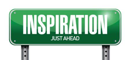 inspiration road sign illustration design over white Stock Vector - 21161577