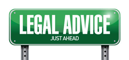 advising: legal advice road sign illustration design over white Illustration