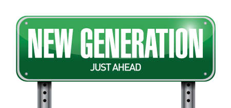new product: new generation road sign illustration design over white