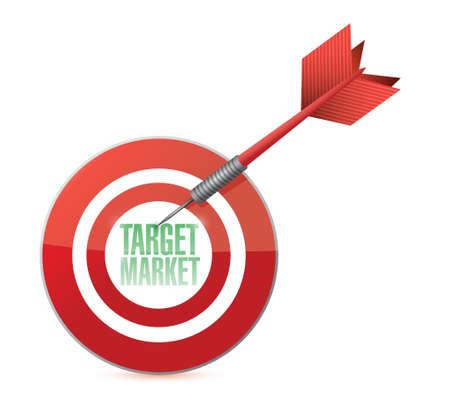 opportunity: target market concept illustration design over white