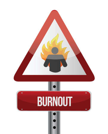 burnout road sign illustration design over a white background