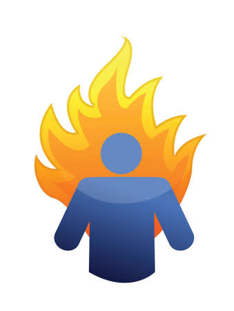 burnout: burnout concept illustration design over a white background