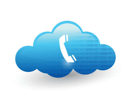 technology cloud computing. illustration design over a white background