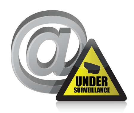 internet surveillance illustration design over a white background Stock Vector - 21314068