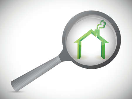 house inspection illustration design over a white background
