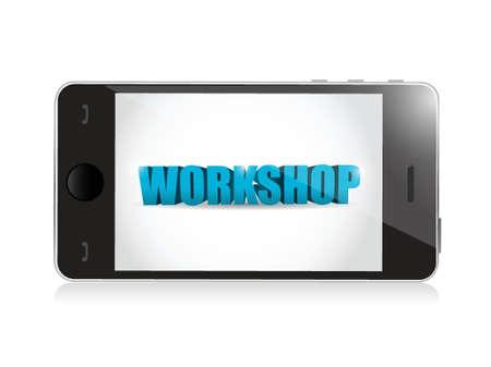 phone. workshop illustration design over a white background Ilustração