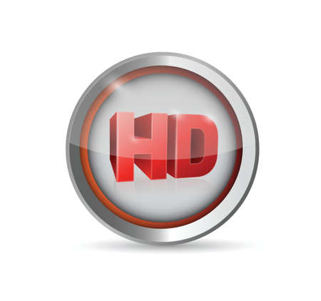 hd button symbol illustration design over a white background Çizim