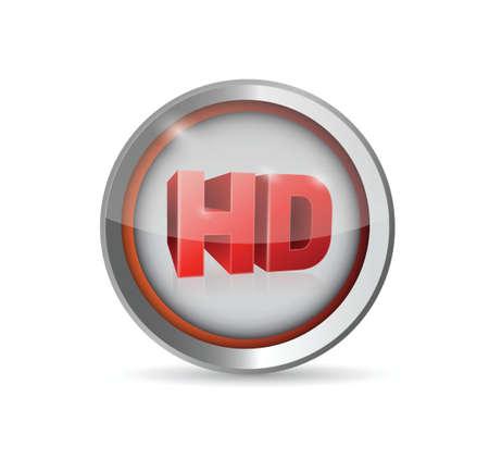 hd button symbol illustration design over a white background Ilustração