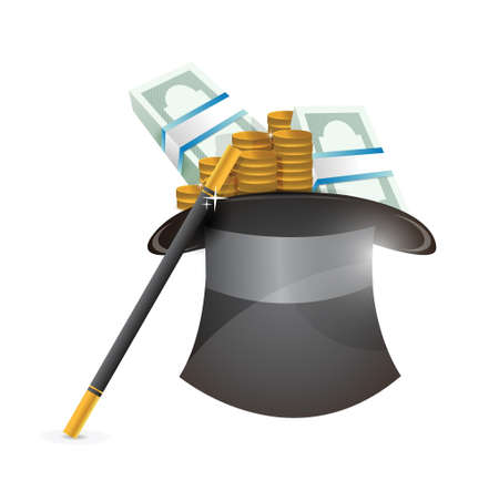 hat with money illustration design over a white background Stock Vector - 21314089