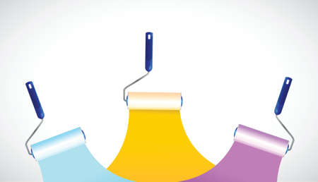 hardware store: paint rollers illustration design over a white background