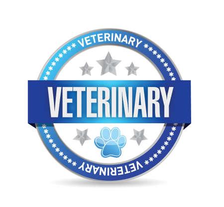 veterinaire seal illustratie ontwerp op een witte achtergrond Stock Illustratie