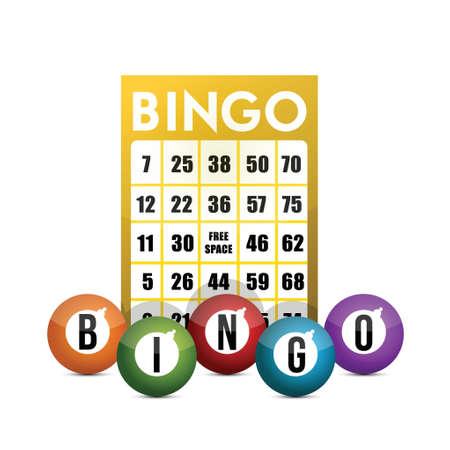 bingo: concepto bingo diseño de ilustración sobre un fondo blanco