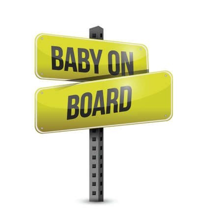 baby on board road sign illustration design over a white background Stock Vector - 21314146