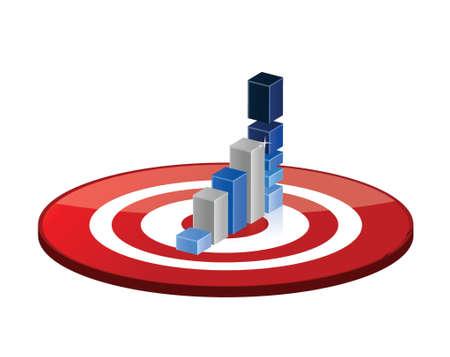 target good profits illustration design over a white background Çizim