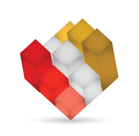 3d cube illustration design over a white background Stock Vector - 21371611