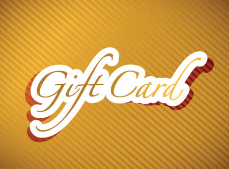redeem: gold gift card illustration design background graphic Illustration