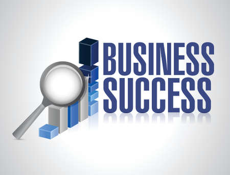 business success under review illustration design over white