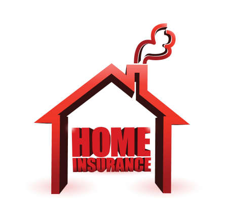home insurance illustration design graphic over a white background Stock Vector - 21371615