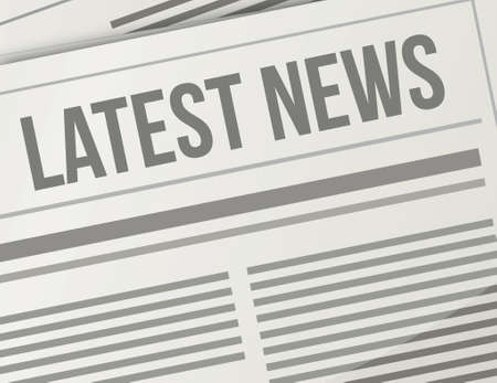 magazine stack: latest news closeup illustration design graphic newspaper Illustration