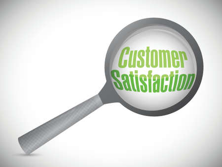 customer satisfaction under inspection. illustration design over white Stock Vector - 21371623