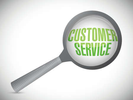 customer service under inspection. illustration design over white