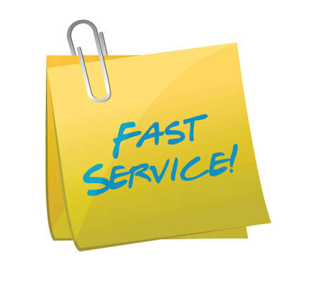 pacing: fast service written on a post. illustration design