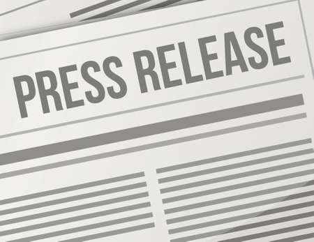 press release closeup illustration design graphic newspaper Vector