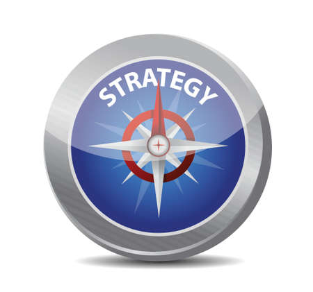 compass guide to strategy. illustration design over white Stock Vector - 21371740