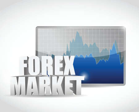 forex market business graph illustration design over white Vector