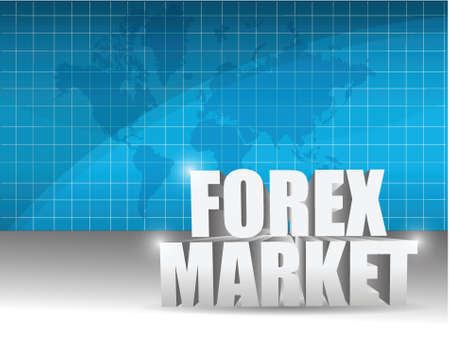 forex market business illustration design graphic background Vector