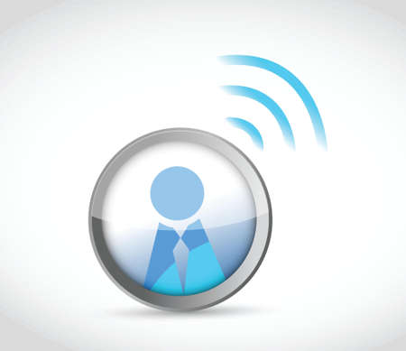 male symbol: icon button with a wifi connection. illustration design over white