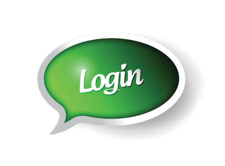 log in: login message communication bubble illustration design graphic Illustration