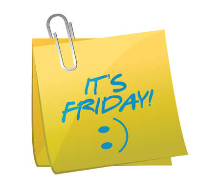 its friday happy post illustration design over a white background 일러스트