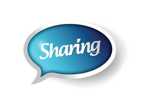 sharing message communication bubble illustration design graphic Stock Vector - 21371829