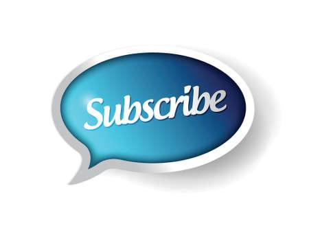 subscribe message communication bubble illustration design graphic Illustration