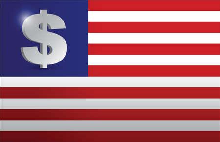 monetary concept: US flag monetary concept illustration design graphic