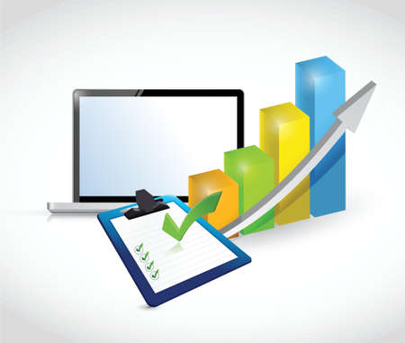 business concept set of tools illustration design over white Illustration