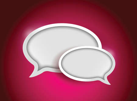 colorful communication bubbles concept illustration design graphic