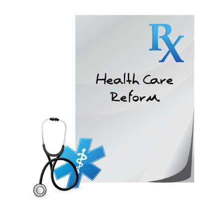 political and social issues: health care reform prescription concept illustration design Illustration