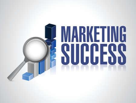 exploration: marketing success graph investigation and exploration. illustration design