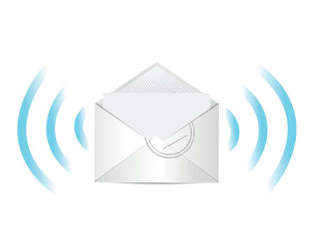 webmail: e mail communication illustration design over white Illustration