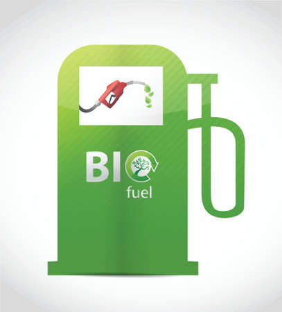 bio fuel gas pump illustration design over white Vector