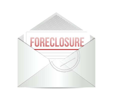 afscherming mail illustratie ontwerp op een witte achtergrond Stock Illustratie