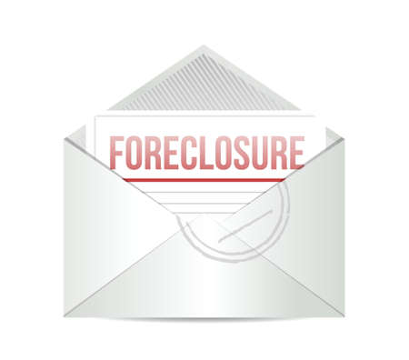 homeownership: foreclosure mail illustration design over a white background