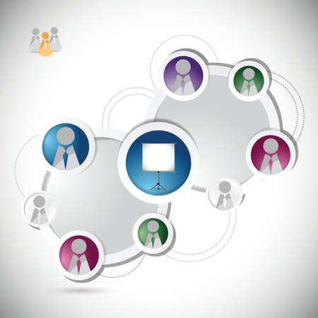 online training student network concept illustration design over a white background