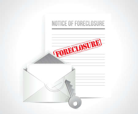 foreclosure final notice concept. illustration design over white Vector