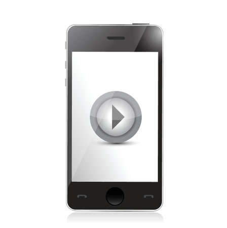 media player on a smartphone. illustration design over a white background Stock Vector - 21506155