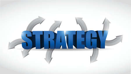 strategy options concept illustration design over white Vector